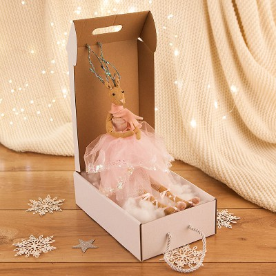 PREZENT świąteczny dla dziecka Z IMIENIEM Maskotka Ballerina Róż +woreczek