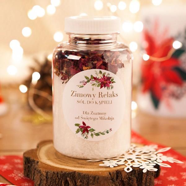 PREZENT świąteczny dla Niej sól do kąpieli z płatkami róż Z PODPISEM