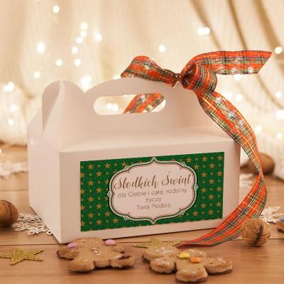 PUDEŁKA na ciasto świąteczne z rączką Z TWOIM PODPISEM Zielone Święta