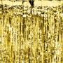 KURTYNA metaliczna Sylwester Święta 90x250cm ZŁOTA