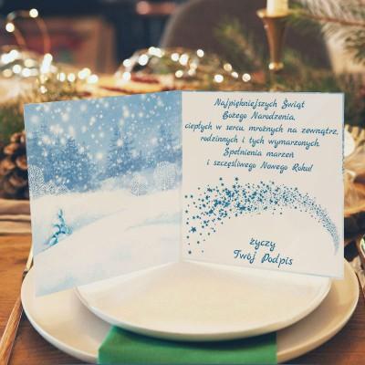 KARTKA świąteczna z Twoimi życzeniami Magia Świąt (+srebrna koperta)
