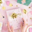 PAPIER do pakowania prezentów szlaczki i konfetti MIX 2szt 0,7x2m BŁYSK