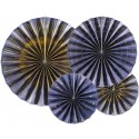 ROZETY dekoracyjne Blue&Gold 4szt