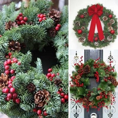 WIENIEC świąteczny jodłowy dekoracja Ø32cm