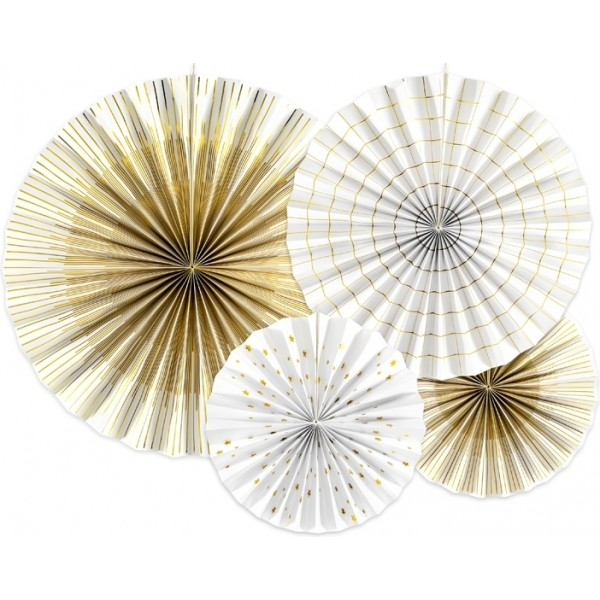 ROZETY dekoracyjne White&Gold 4szt