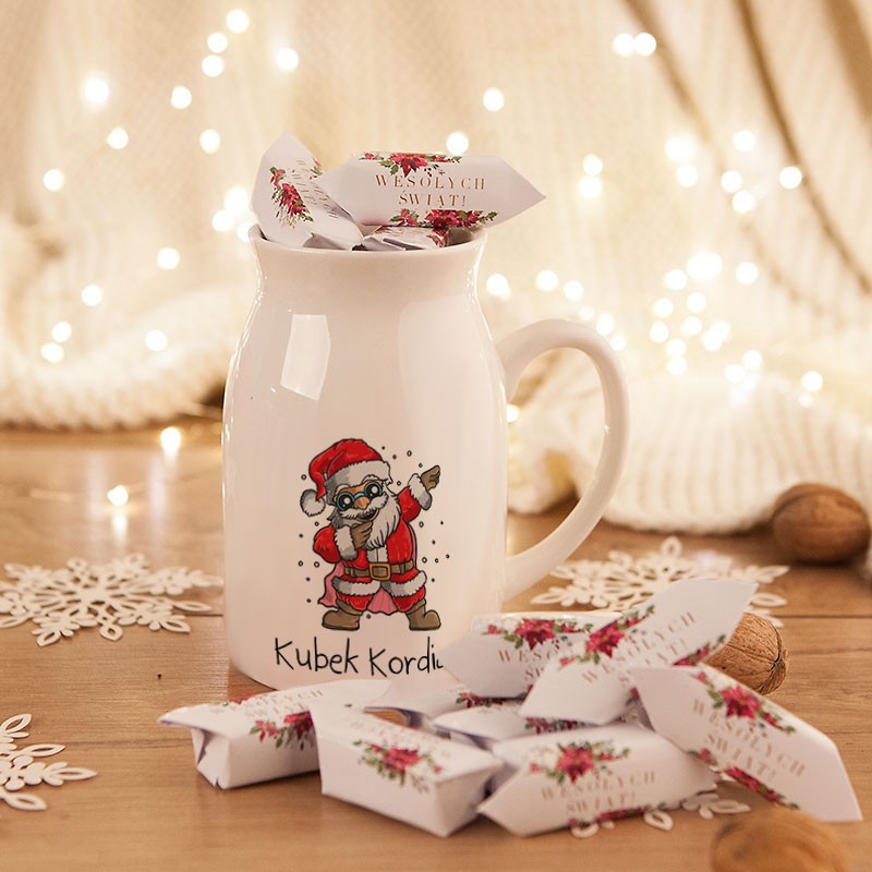 Prezent świąteczny kubek kanka + krówki z imieniem