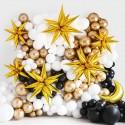 BALON sylwestrowy w kształcie gwiazdy 70cm 3D MEGA EFEKT