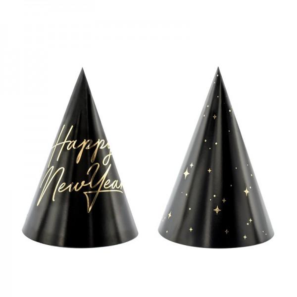 CZAPECZKI na Sylwestra Happy New Year 6szt