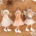 DEKORACJA świąteczna Aniołek z rogami renifera 18cm HIT prezent