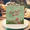 KARTKA świąteczna z Twoimi życzeniami Zimowy Ptaszek (+koperta kraft)