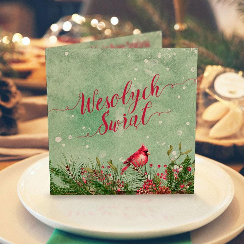 Przepiękna kartka świąteczna z nadrukiem Twoich życzeń