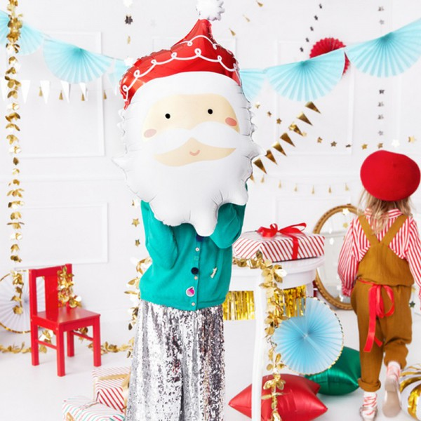 BALON świąteczny foliowy Mikołaj 37x60cm