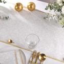BIEŻNIK świąteczny flizelinowy Srebrno-Złoty 40cmx24m