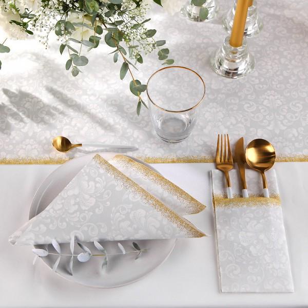 KIESZONKI świąteczne na sztućce Srebrno-Złote 25szt