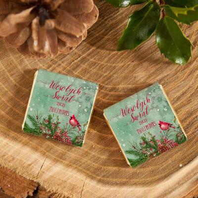 CZEKOLADKA świąteczna na prezent Zimowy Ptaszek