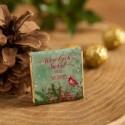 CZEKOLADKI świąteczne na prezent Zimowy Ptaszek 10szt
