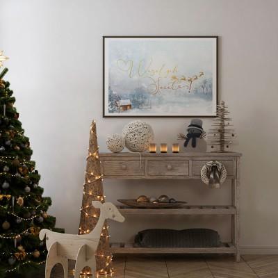 DEKORACJA świąteczna plakat Wesołych Świąt 50x70cm Magia Świąt