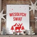 DEKORACJA świąteczna plakat Wesołych Świąt 50x70cm Skandynawskie Święta