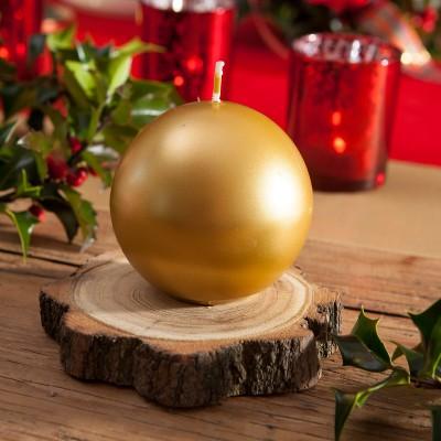 ŚWIECE świąteczne kule metalizowane 6cm 10szt ZŁOTE