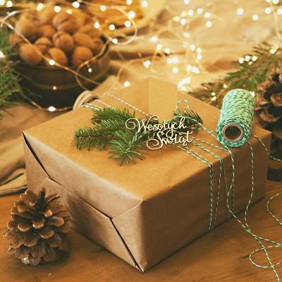 SZNUREK do pakowania prezentów 50m ZIELONY