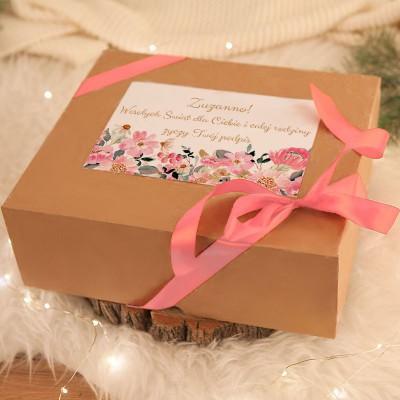 KOSZ prezentowy Z TWOIM PODPISEM Błogie Święta ze świecą i solą do kąpieli