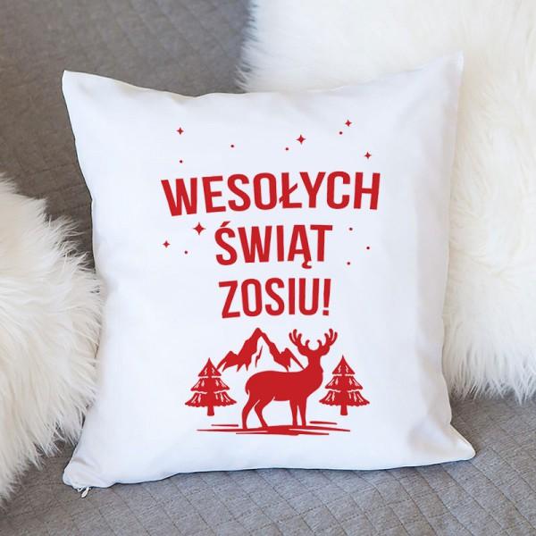 PODUSZKA na prezent świąteczny Z IMIENIEM Skandynawskie Święta