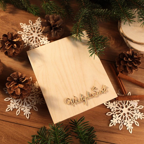 OZDOBA na wieko pudełka na prezent świateczny napis Wesołych Świąt