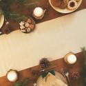 SATYNA bieżnik świąteczny rolka 36cmx9m KREMOWA