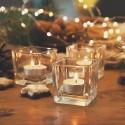 ŚWIECZNIK świąteczny na tealight Sześcian 6cm