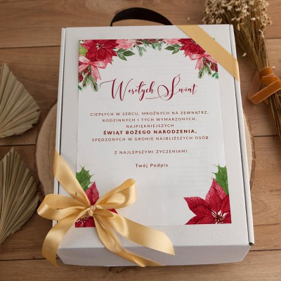 KOSZ prezentowy świąteczny Prosecco i czekolada Z PODPISEM