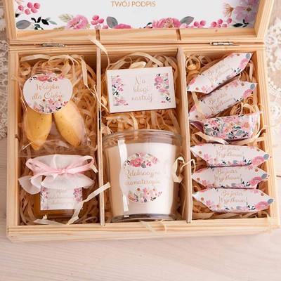 PREZENT świąteczny w skrzyni Z PODPISEM Słodka Aromaterapia