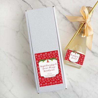 WINO świąteczne Premium Z PODPISEM 200ml Czerwone Święta W PUDEŁKU