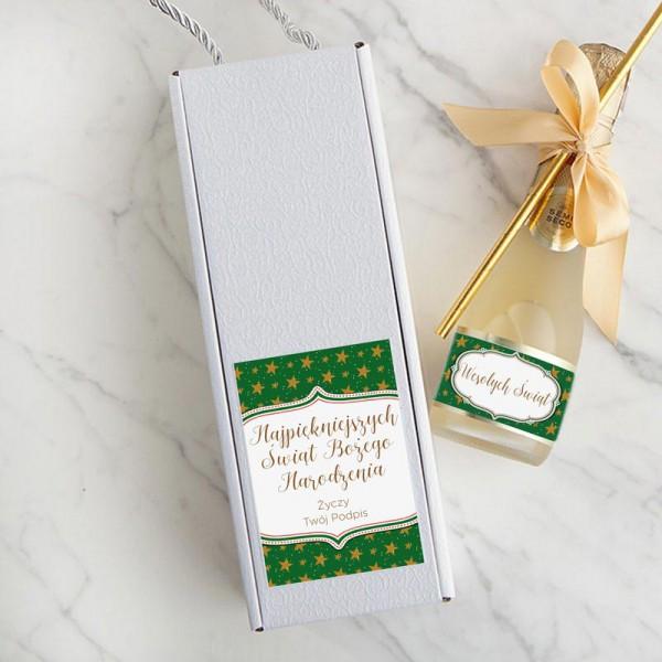 WINO świąteczne Premium Z PODPISEM 200ml Zielone Święta W PUDEŁKU