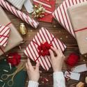 ZESTAW wstążek i rozetek do pakowania prezentów WELUROWY 3szt