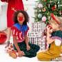 OPASKA świąteczna Rogi Renifera ZŁOTE