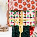 PAPIER do pakowania prezentów Kolorowe Romby 0,7x2m