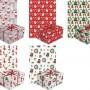 PAPIERY do pakowania prezentów świątecznych MIX 5szt 10m