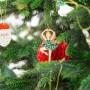 DEKORACJA na Święta zawieszka metalowa BALETNICA 5x10cm