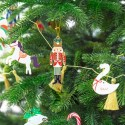 DEKORACJA na Święta zawieszka metalowa DZIADEK DO ORZECHÓW 3x10cm