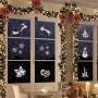 SZABLONY świąteczne do sztucznego śniegu MIX WZORÓW 8szt