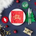 KIESZONKI na sztućce świąteczne filcowe Choinka 6szt