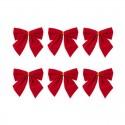 KOKARDY świąteczne do pakowania prezentów 6szt CZERWONE