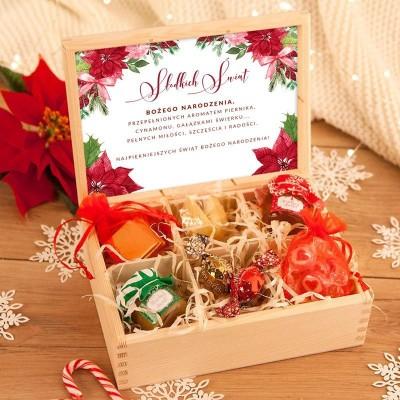 PREZENT świąteczny w skrzyni Słodkie Święta UNIWERSALNY