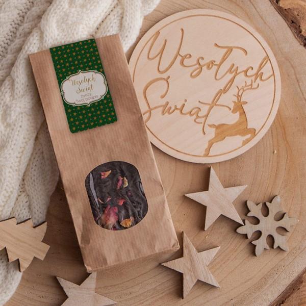 HERBATKA świąteczna na prezent Zielone Święta Z TWOIM PODPISEM 50g