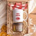 KOSZ prezentowy świąteczny Z PODPISEM Miód i kubek Czerwone Święta