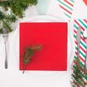 SERWETKI świąteczne flizelinowe Duni Czerwone 60szt