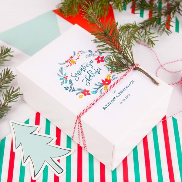 PUDEŁKA na ciasto świąteczne personalizowane Merry Christmas 12szt