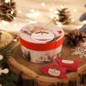 PREZENT świąteczny firmowy pudełko z krówkami (+bilecik z nazwą)