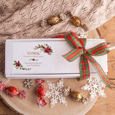 SKAPRETY świąteczne w pudełku Z PODPISEM 3 pary