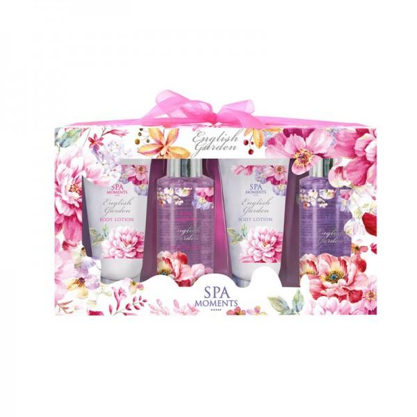 ZESTAW kosmetyków na prezent świąteczny dla kobiety Pink Flowers